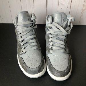 Silver Jordan's Retro H1 Prem GG 4.5 kids size